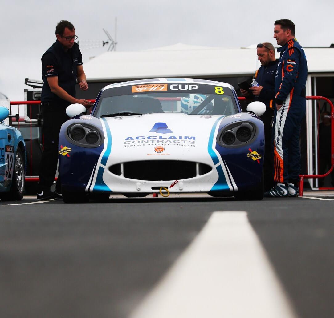 ginetta race car sponsorship